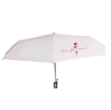 Parapluie Pratissimo blanc fête des Mères